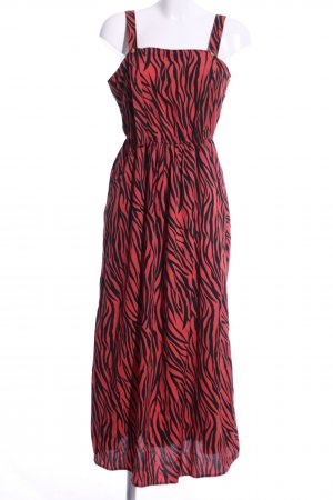 Noisy May Maxikleid rot-schwarz abstraktes Muster Elegant