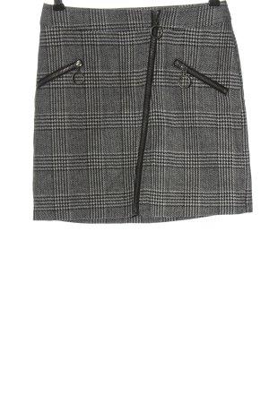 Noisy May Mini rok zwart-wolwit geruite print casual uitstraling