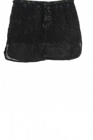 Noisy May Mini rok zwart-lichtgrijs gestippeld casual uitstraling