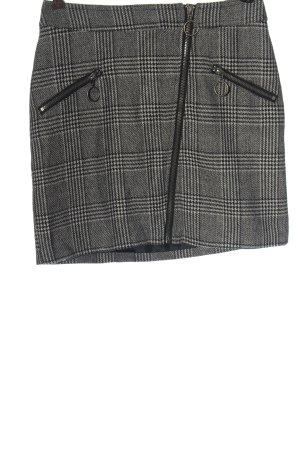 Noisy May Mini rok lichtgrijs-zwart volledige print casual uitstraling