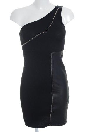 Noisy May Sukienka na jedno ramię czarny Imprezowy wygląd