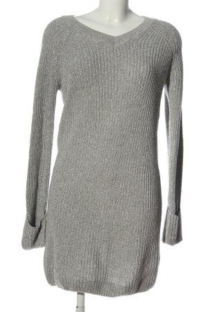 Noisy May Sweaterjurk lichtgrijs kabel steek casual uitstraling