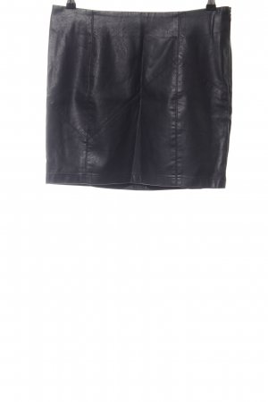 Noisy May Kunstlederrock schwarz schlichter Stil