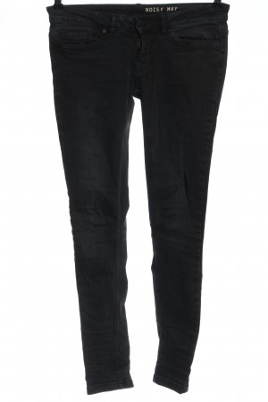 Noisy May Jeans a sigaretta nero stile casual