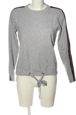 Noisy May Maglione girocollo grigio chiaro puntinato stile casual