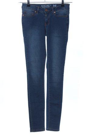Noisy May Skinny Jeans blau Casual-Look