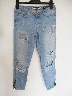 Noisy May Pantalone elasticizzato blu fiordaliso Cotone