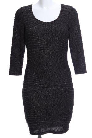 Noisy May Stretchkleid schwarz grafisches Muster Elegant