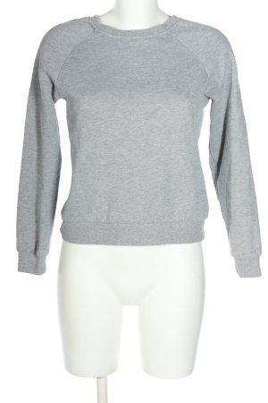 Noisy May Sweatshirt hellgrau meliert Casual-Look