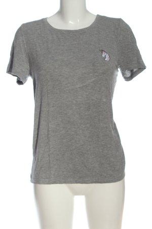 Noisy May T-shirt grigio chiaro puntinato stile casual