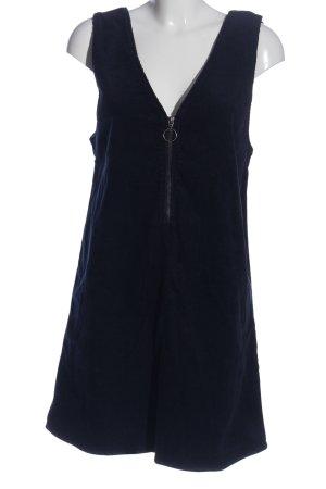 Noisy May Trägerkleid blau Zopfmuster Casual-Look