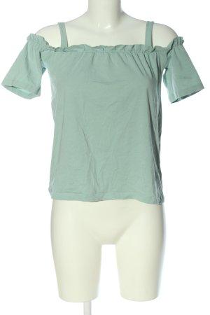 Noisy May Top épaules dénudées turquoise style décontracté