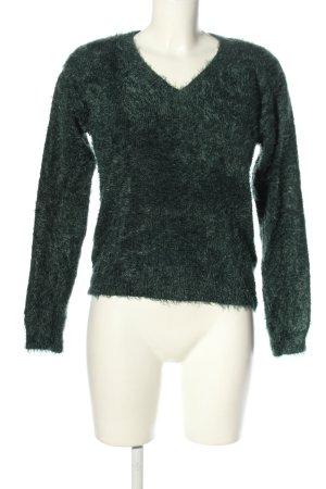 Noisy May V-Ausschnitt-Pullover hellgrau Casual-Look