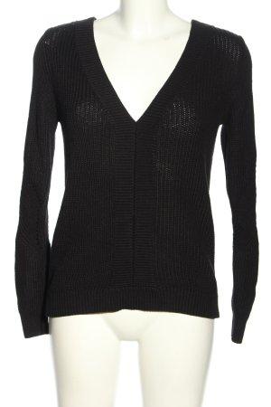 Noisy May V-Ausschnitt-Pullover schwarz Business-Look
