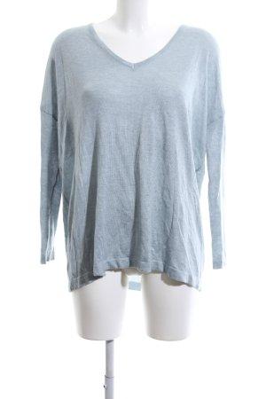 Noisy May V-Ausschnitt-Shirt hellgrau-blau meliert Casual-Look