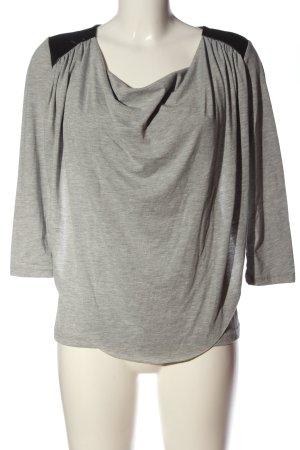 Noisy May Koszulka z dekoltem woda jasnoszary-czarny Melanżowy W stylu casual