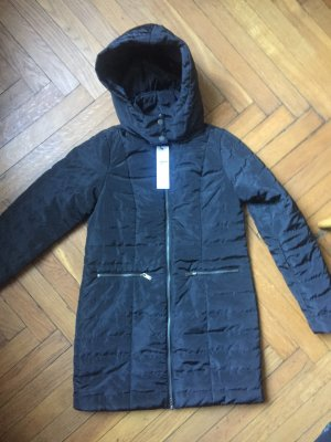 Noisy May Quilted Coat black