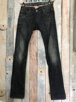 Nolita de Nimes Low Rise Jeans dark blue cotton