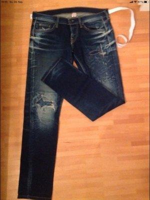 Nolita Jeans taille basse bleu foncé