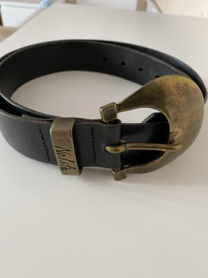 Nolita Leather Belt black-bronze-colored