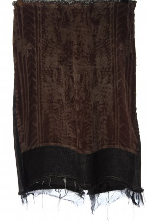 Nolita Falda de talle alto marrón-negro estampado con diseño abstracto
