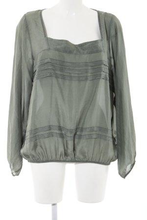 Nolita Langarm-Bluse khaki Casual-Look