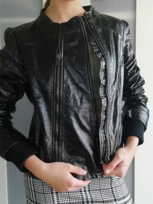 Nolita Lederjacke Lack schwarz Größe 40