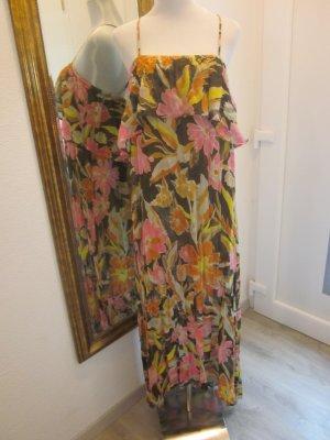 #Nolita Maxikleid Floral mit Volants Seide Gr M Neu