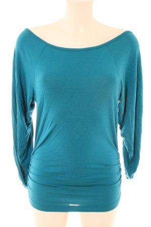 Nolita Oversized Shirt blau Schriftzug gedruckt Casual-Look