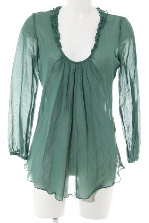 Nolita Schlupf-Bluse grün Casual-Look