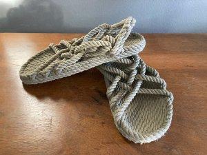 Sandalo outdoor verde oliva Tessuto misto