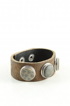 Noosa Amsterdam Armband braun Motivdruck Casual-Look