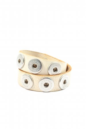 Noosa Amsterdam Mouwband wolwit-zilver casual uitstraling