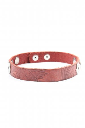Noosa Amsterdam Collier rood-zilver casual uitstraling