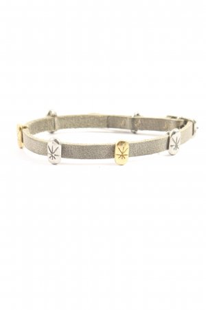 Noosa Armband hellgrau-goldfarben Elegant
