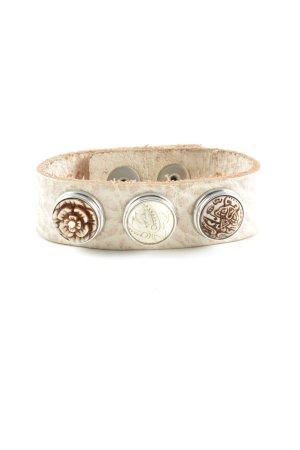 Noosa Bracelet en cuir blanc cassé style décontracté