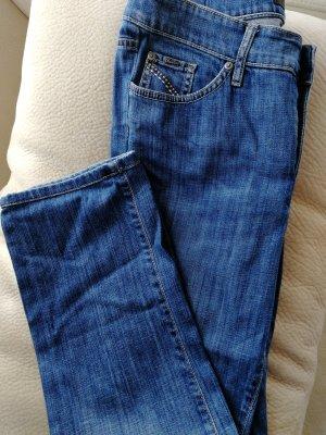 Cambio Pantalone cinque tasche azzurro-blu acciaio