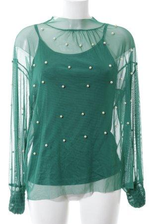 Norah&Olivia Transparenz-Bluse grün Business-Look