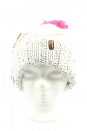 nordbron Crochet Cap white-pink cable stitch casual look