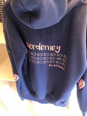 Jersey con capucha azul
