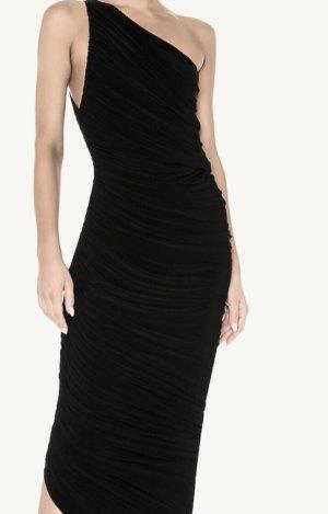 Norma Kamali Robe asymétrique noir polyester