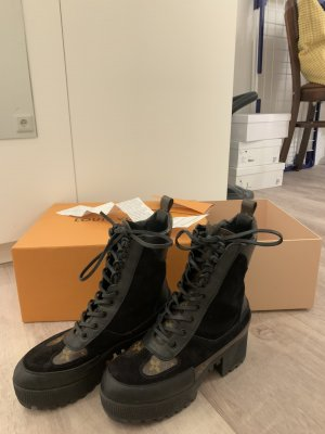 Louis Vuitton Woestijnlaarzen lichtbruin-zwart