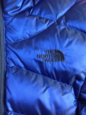 North Face Donsjack donkerblauw