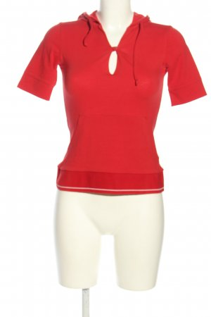 North Face Shirt met capuchon rood gedrukte letters casual uitstraling
