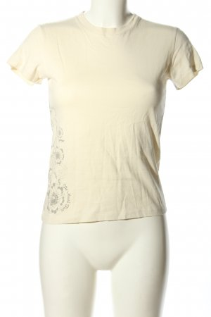 North Face T-Shirt creme Blumenmuster Casual-Look