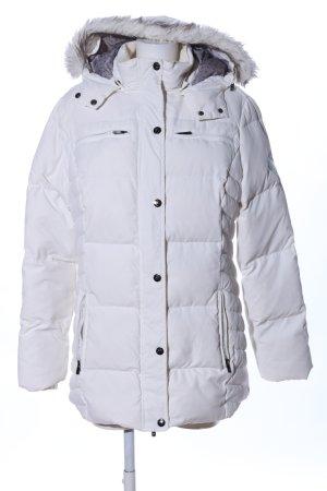North Route Veste d'hiver blanc motif de courtepointe style décontracté