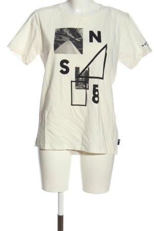 North sails Print Shirt white-black themed print casual look
