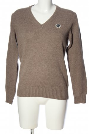 North sails V-Neck Sweater brown flecked casual look