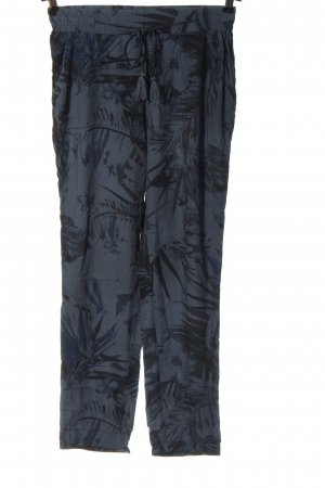 Northland Pantalone largo blu-nero stampa integrale stile casual