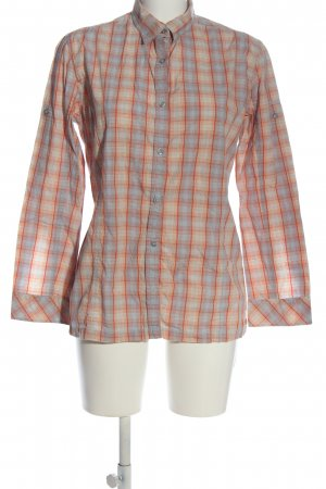 Northland Camisa de leñador azul-naranja claro look casual